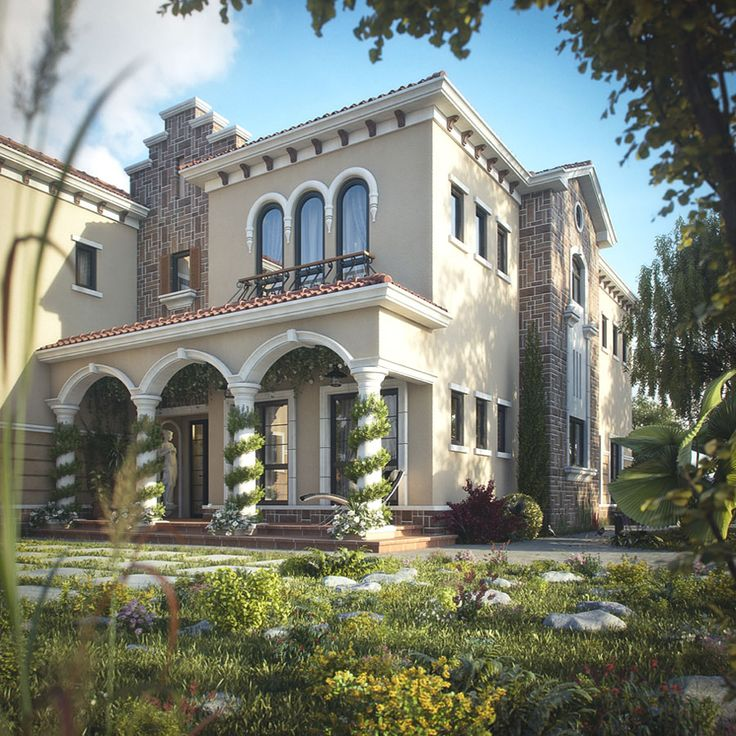 Elegant Mediterranean Home Design Http://www.idesignarch.com/tuscan Inspired Villa In Dubai/  | Your Dream Home | Pinterest | Villas, Exterior And House
