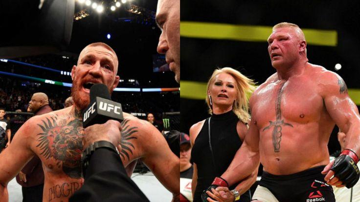 Conor McGregor Smashes Brock Lesnar's Highest UFC Purse Record - http://www.lowkickmma.com/UFC/conor-mcgregor-smashes-brock-lesnars-highest-ufc-purse-record/
