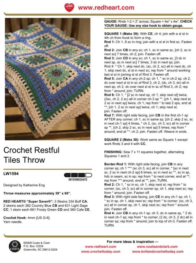 Asombroso Los Patrones De Crochet Libre Www Com Redheart Friso ...