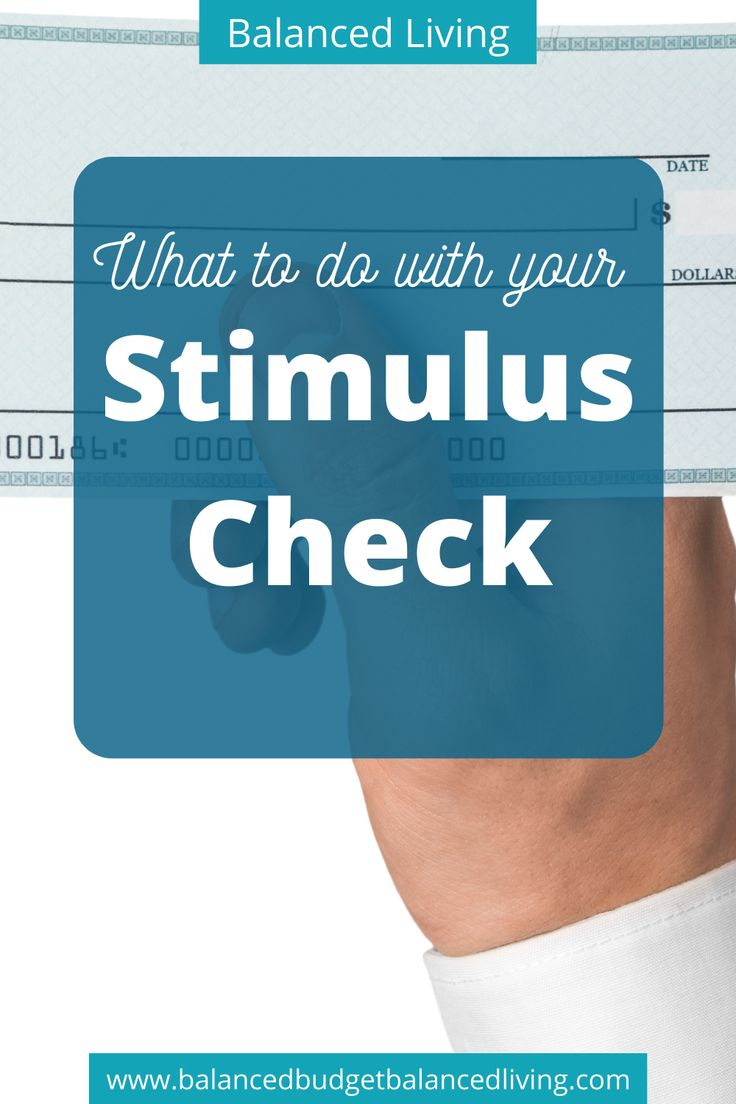 What to do with your Stimulus Check in 2020 Check and