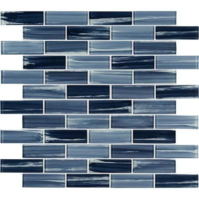 Msi Boathouse Picket 10 In X 12 In X 8 Mm Textured Glass Mesh Mounted Mosaic Wall Tile 0 830 Sq Ft Glspk Boa In 2020 Mosaic Tiles Glass Mosaic Tiles Mosaic Glass