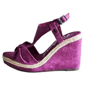 Sandále platformové fuksia