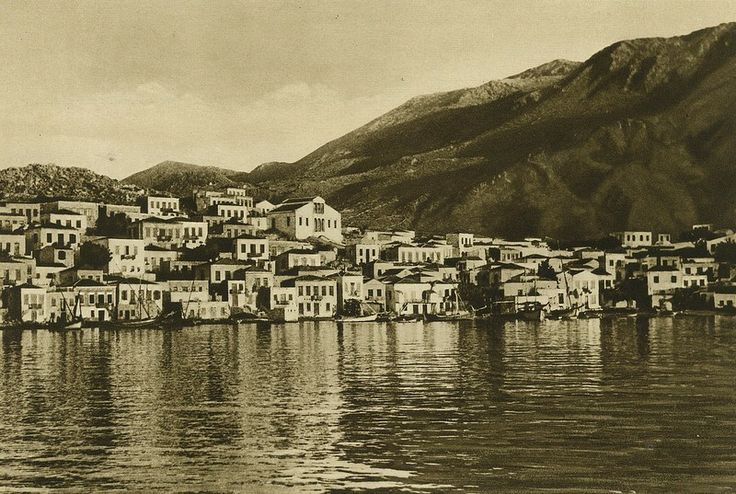 Beautiful Halki island, Greece, from 1925