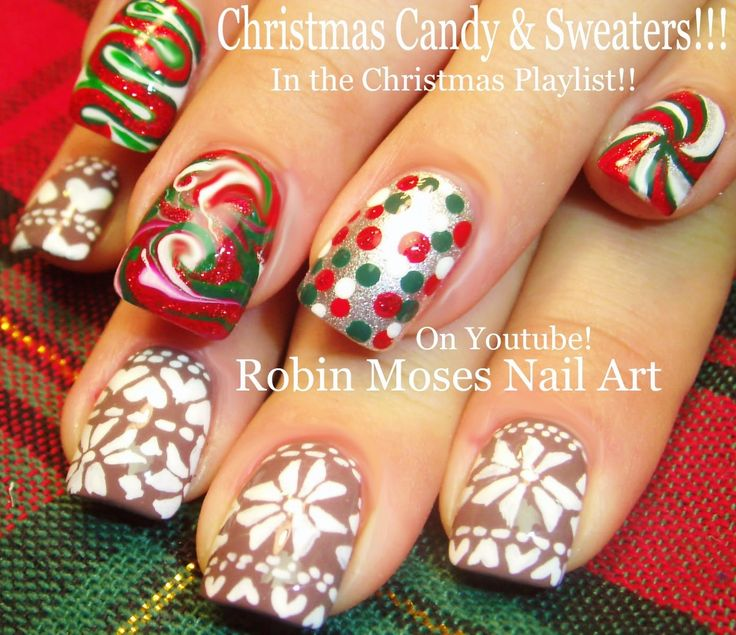 Christmas Nail Designs Tutorial: 180 Best CHRISTMAS Nail Art Pictures With Tutorials Images