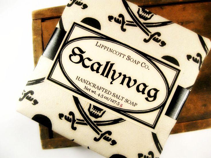 Pirate Soap, Cold Process Soap, Men's Soap, Bay Rum Soap, Salt Soap, Bar Soap, Phthalate Free Soap, Dead Sea Salt Soap by LippincottSoapCo on Etsy https://www.etsy.com/listing/182403248/pirate-soap-cold-process-soap-mens-soap