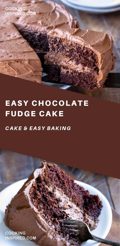 Chocolate Fudge Cake Di 2020 Kue Resep Coklat