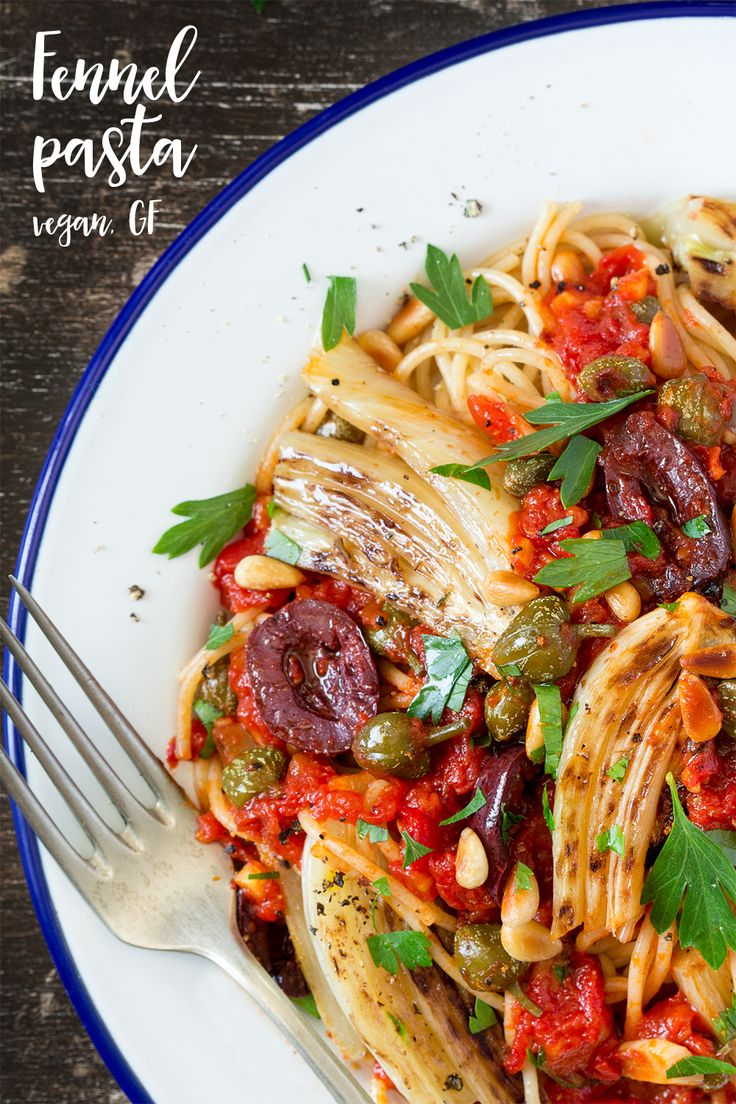 This #fennel #pasta makes a great emergency meal. It's packed with flavour despite being #diaryfree and #vegan. It comes together quickly too! Perfect #summer dish!  #glutenfree #vegetarian #mediterranean #dinner #entree #lunch #recipe #recipes