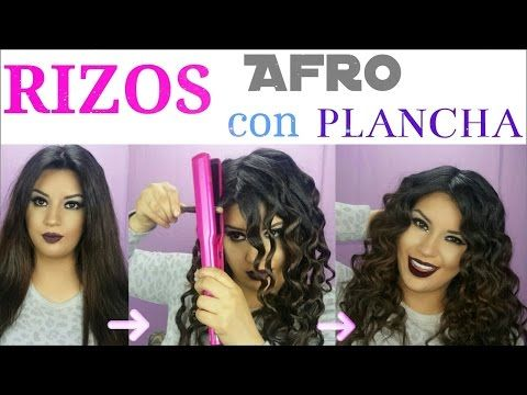 Hacer Rizos Afro con Plancha y lápiz   GORGEOUS CURLY HAIR WITH A PENCIL…