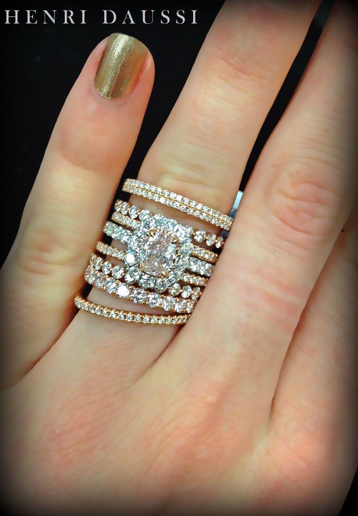 Henri Daussi rose gold and fancy pink diamond www.henridaussi.com