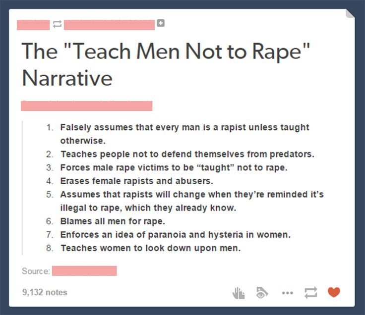 You feminazis assume that mothers of boys haven't taught their sons not to rape. How degrading to other women, you're supposed comrades. You need to remember your rape culture stats also include farting near females. BS!