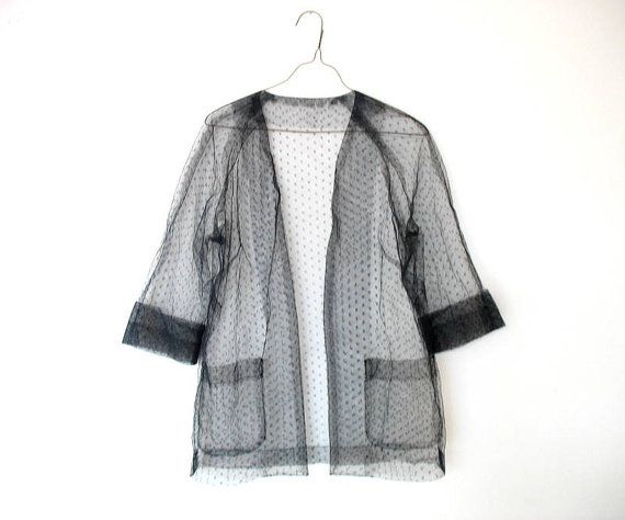 Vintage CLUELESS FASHION Cocktease CoverUp Shirt by ACTUALTEEN, $16.00
