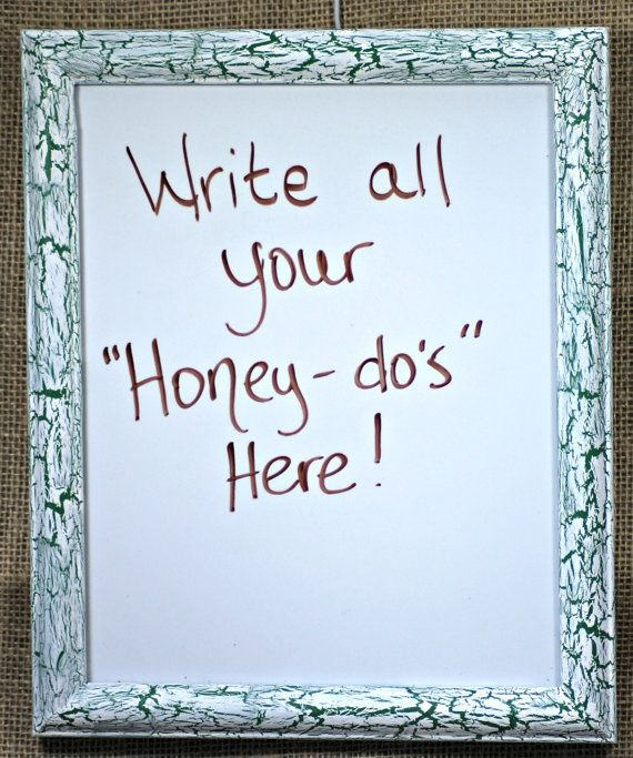 Dry Erase Whiteboard with White Crackle over by SecondBliss