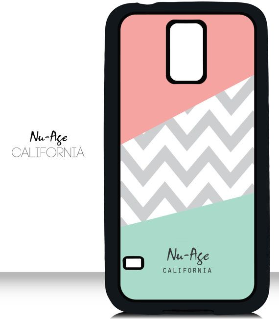 Pink and Green Chevron Cell Phone Case Samsung by NuAgeProducts, $13.23