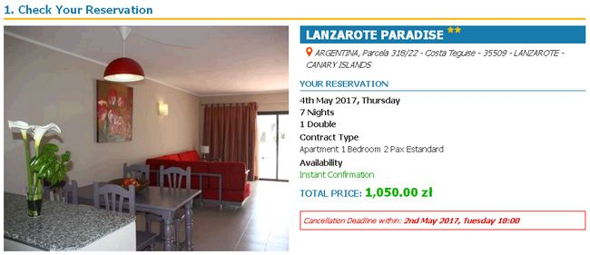 Tydzień na Lanzarote z Katowic za 843 PLN (loty + noclegi)