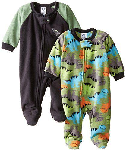 coolLove baby stuff? - Gerber Baby-Boys Newborn Dino 2 Pack Blanket Sleepers, Dino, 12 Months
