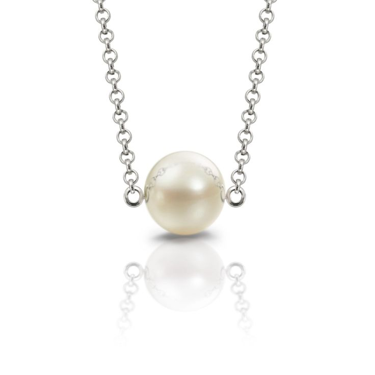 single round cultured pearl necklace friendship pendant #pearl #juneBirthstone