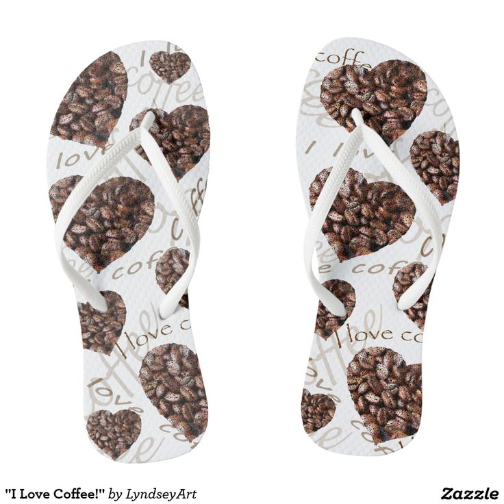 """""""I Love Coffee!"""" Thongs! Who would have thought! The perfect gift for the coffee obsessed :) LyndseyART"""