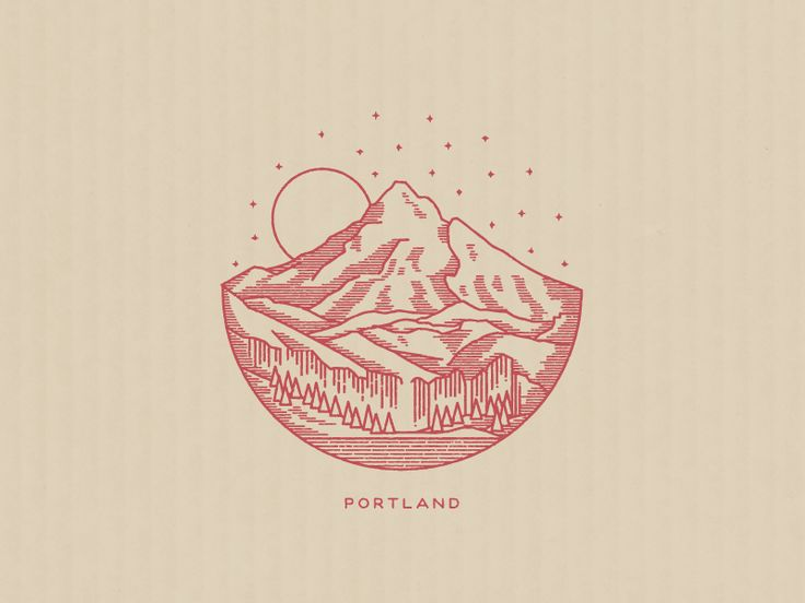 Another landscape illustration. Did this one for a great little band from Portland.
