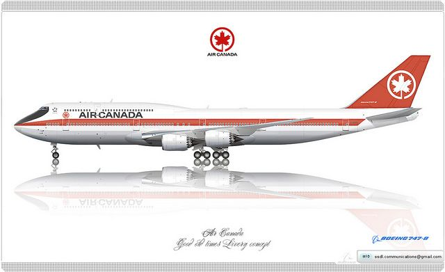 Air Canada / Boeing 747-8 / Good old times / Livery concept