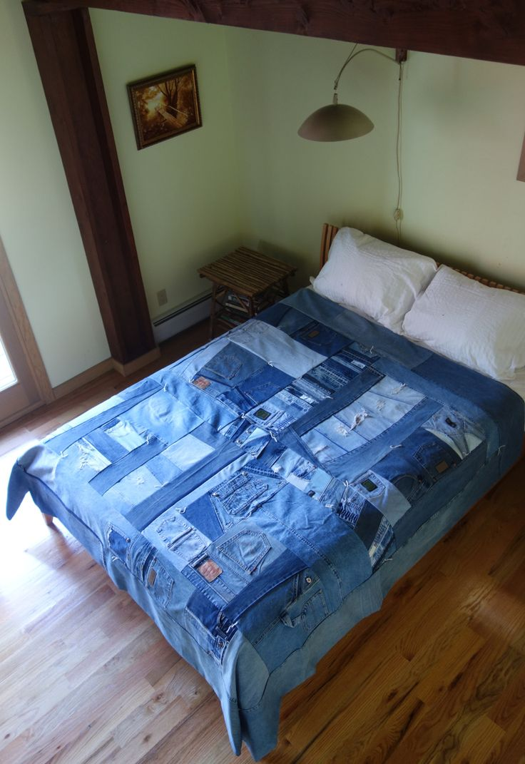 blue jean quilt at Patwig's blog