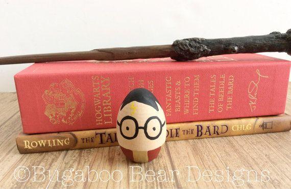 Harry Potter Decorative Egg Easter Egg Hand by BugabooBearDesigns
