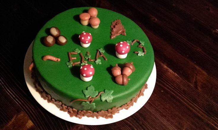 Autumn Fall Cake. Herfsttaart voor onze 3 jarige peuter! Made by AMBD