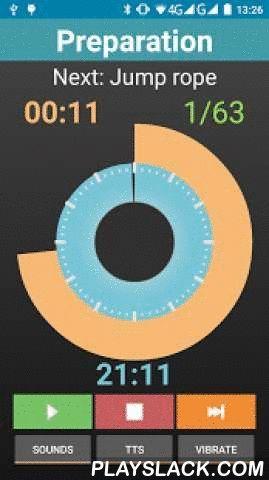 Interval Timer 4 HIIT Workout  Android App - playslack.com ,  Interval Training Timer voor Android is een niet-te-missen app voor allen geinstereseerd in trainen, fitnessen, fietsen, sprinten, tabata, hiit en veel meer. Het is ook mogelijk om dynamische trainings tijden in te plannen zodat elke ronde langer of korter duurt met verschillende rust periodes. Je kunt zelfs je trainings tijden importeren en exporteren voor later gebruik of deel ze met de rest van de wereld!homepage…