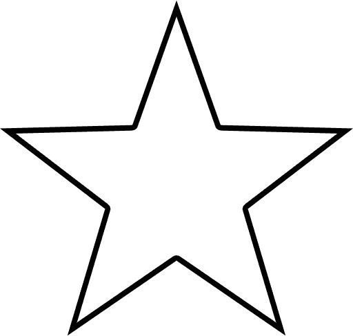 Texas Star Outline | star outline shape