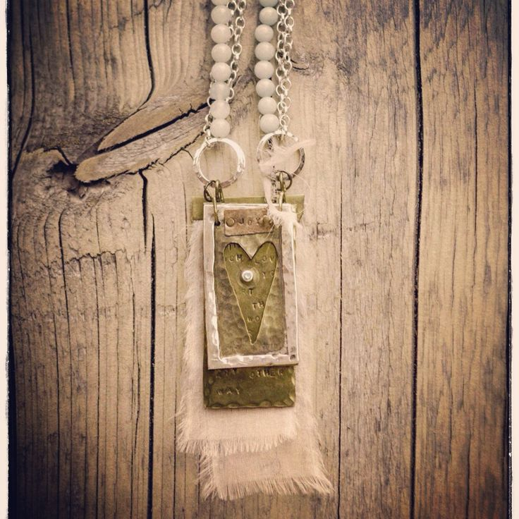 Boho necklace with heart.