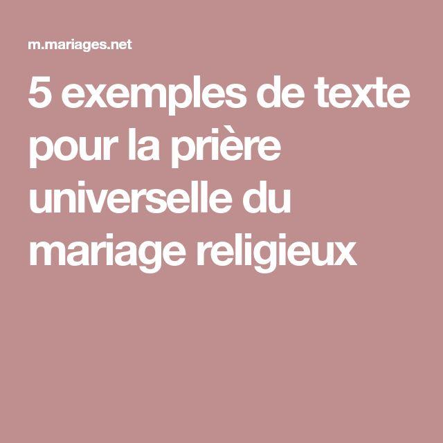 5 exemples de texte pour la prière universelle du mariage religieux