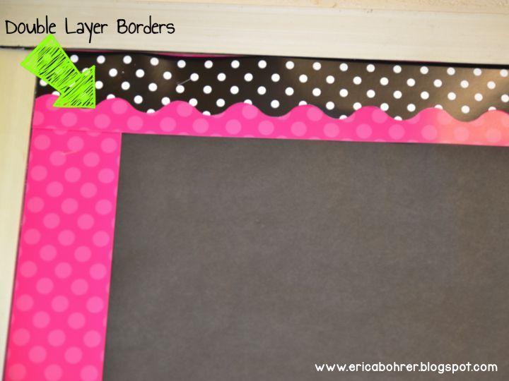 double layer bulletin board boarders