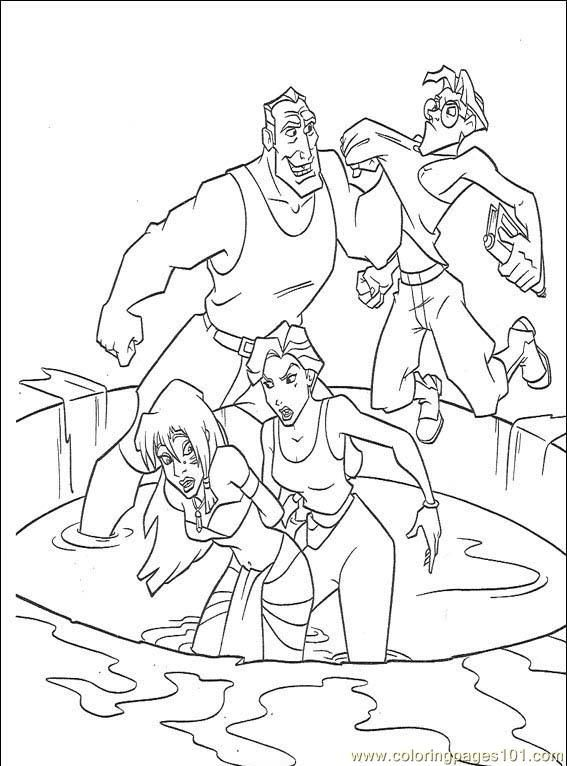 From Disney Coloring Pages Atlantis The Lost Empire Page