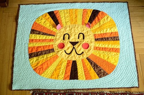 Lion Quilt from Knotty Bits (uses Single Girl template)