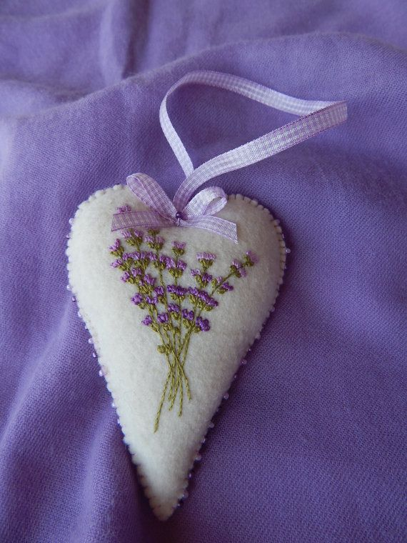 Floral Heart Ornaments by cuoredamore on Etsy