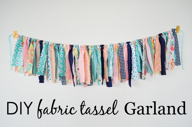 DIY Fabric Tassel Garland - perfect for the nursery, kids room or even as party decor!