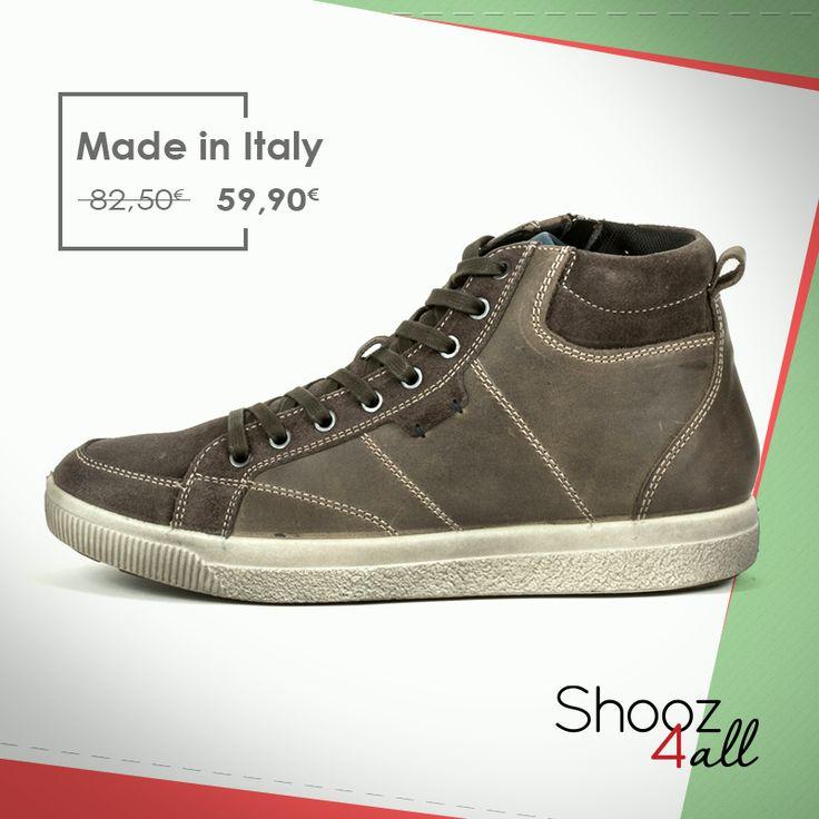 Απολαύστε ποιοτικά ανδρικά παπούτσια του διάσημου Ιταλικού brand IMAC (Made in Italy). Μποτάκια ανδρικά με μοντέρνο design, από γνήσιο δέρμα άριστης ποιότητας σε γκρι-λαδί απόχρωση. Εξαιρετικά ελαφριά, διαθέτουν εύκαμπτη και αντικραδασμική σόλα. http://www.shooz4all.com/el/andrika-papoutsia/casual-mpotakia-se-gri-xroma-61710-detail #shooz4all #casual #mpotakia