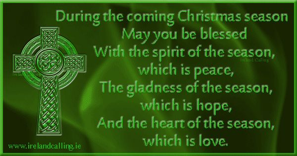 Irish Christmas Blessing Image copyright Ireland Calling