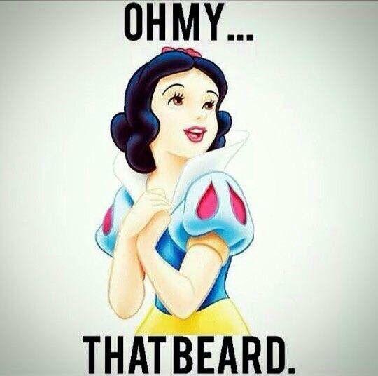 My two favorite things; Disney & beards