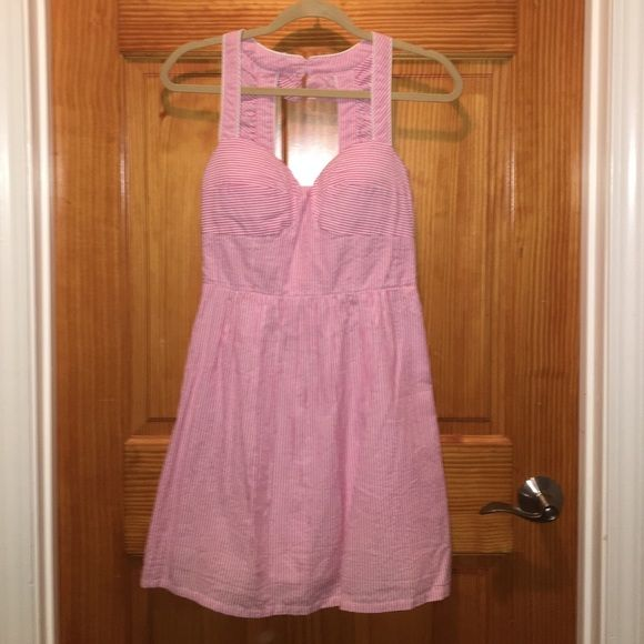 Southern Frock Pink Seersucker Dress New-never worn. Size 2. Southern Frock Dresses Midi