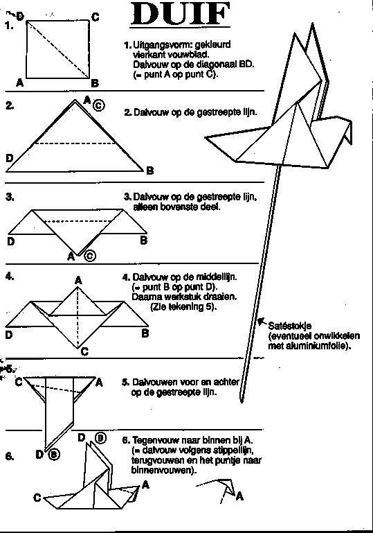 duif  paper craft