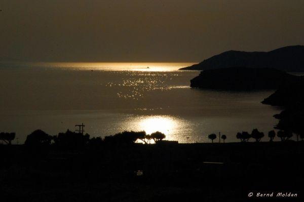 Sunset at the beach of Episkopi
