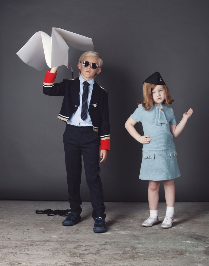 Halloween Costumes Part l: Pilot & Flight Attendant — mini style @ministyleblog halloween feature photography by stephanie matthew hair by stephanie witter styling by heather rome props by michelle berg