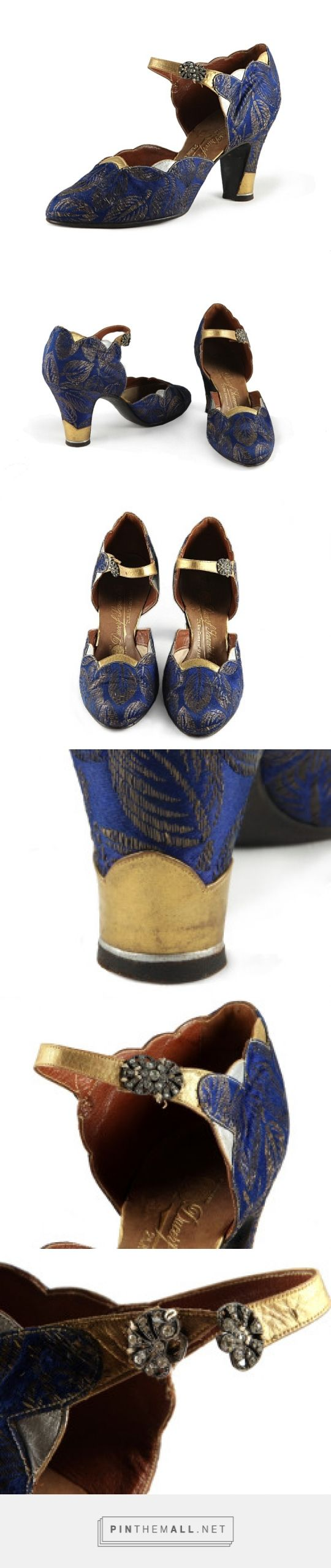 Silk Brocade and Metallic Leather Evening Shoes, ca. 1928 Ducerf Scavini and Fils