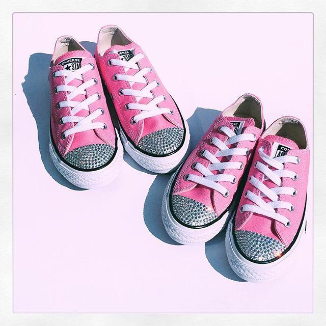 Pretty in Pink! #prettyinpink #pink #bling #converse
