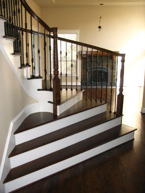 Необычный дизайн лестницы в современном стиле.