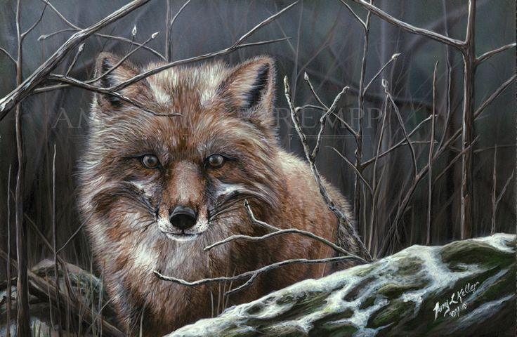 """Realism painting by Amy Keller-Rempp Art. """"Misty Morning"""", 12"""" by 16"""", acrylic on wood. Original sold. Very popular in giclee print and fine art cards."""