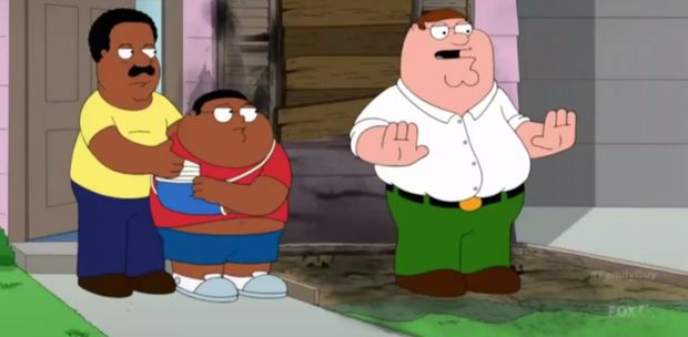 After a ridiculous episode in which Peter Griffin shoots Cleveland Brown, Jr, the son of his black friend and next door neighbor, and nearly burns down their home, Brown, Sr. shows Family Guy viewers how to get the media to disappear and stop covering a...