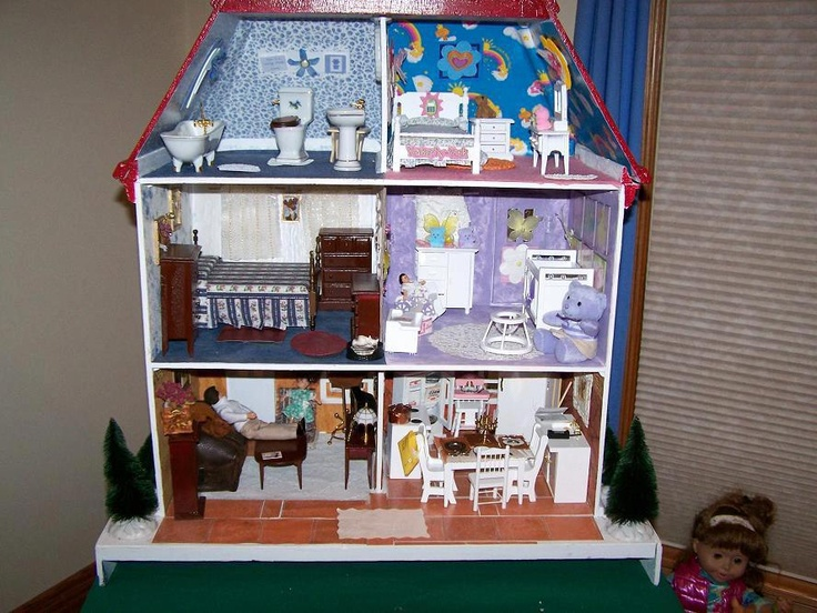 13 best daughter 39 s wooden dollhouse more dollhouse ideas for Ac moore and crafts