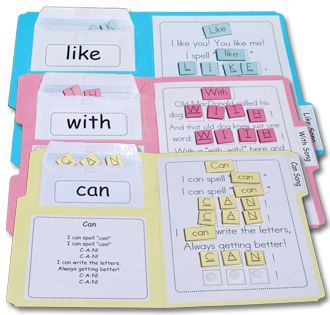 Great idea to use for sight words!  The blog post gives links to the downloads/printables. Chalk Talk: A Kindergarten Blog: Velcro Manipulative Books