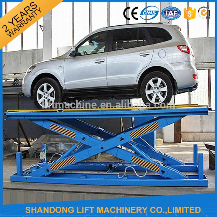 3T 3M hydraulic cylinder automotive scissor vehicle car lift with CE
